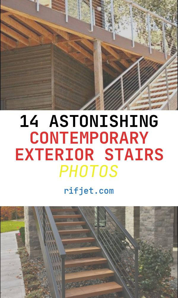 Contemporary Exterior Stairs Elegant Moody Rear Deck Stairs
