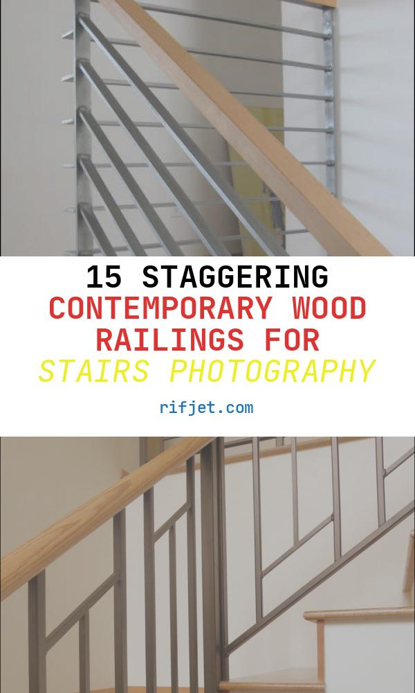 Contemporary Wood Railings for Stairs New Modern Wood Railing