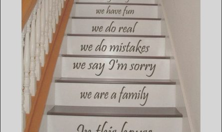 Decor Stairs Quotes Inspirational Shop Stair Quotes Stairway We are A Family In This House