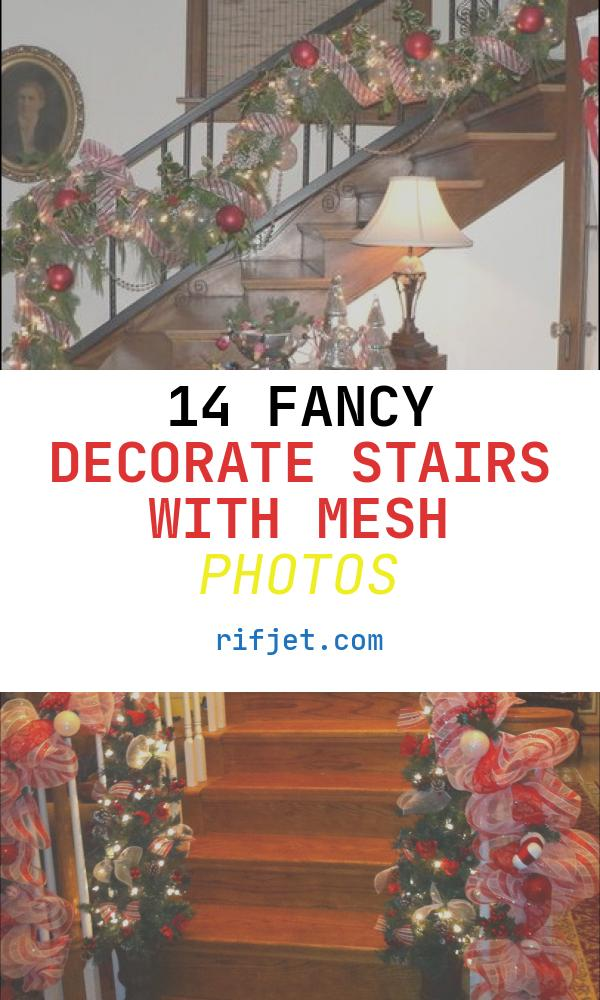 14 Fancy Decorate Stairs with Mesh Photos
