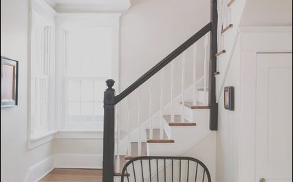 Decorating Small Entryway with Stairs Luxury Black & White Entryway Farmhouse Staircase Chicago