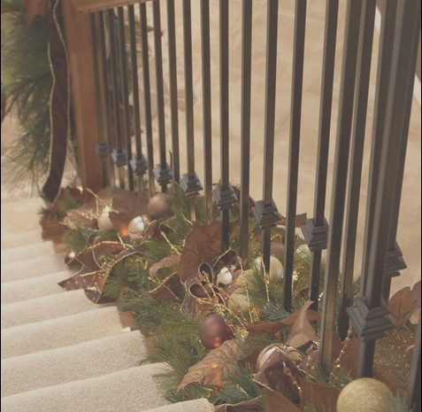 9 Wondeful Decorating Stairs with Garland Collection