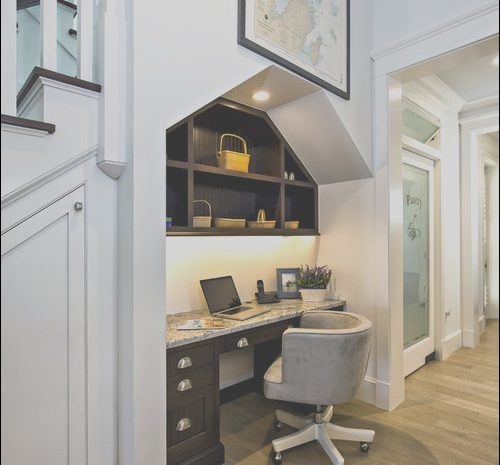 12 Extraordinay Desk Under Stairs Ideas Image