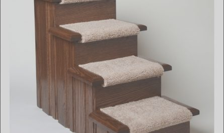 Dog Stairs Wooden New Oak Wood Carpeted Pet Stairs