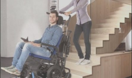 Electric Chairs Up Stairs Elegant New Powered Stairway Climber Carries Any Wheelchair Person