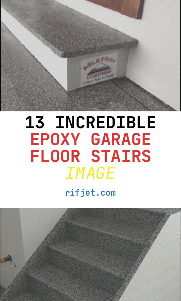 13 Incredible Epoxy Garage Floor Stairs Image