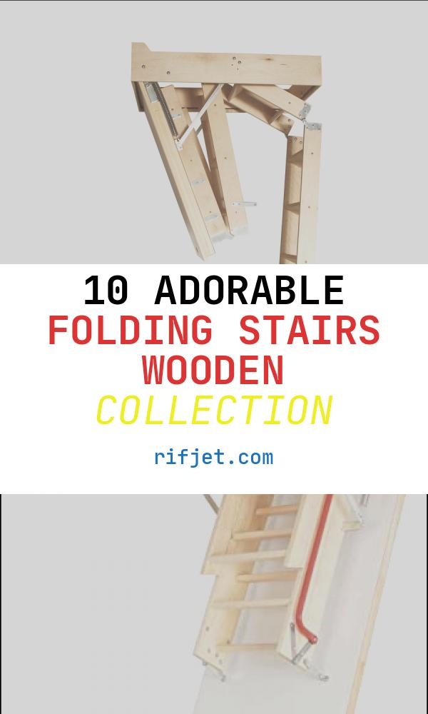 "Folding Stairs Wooden Elegant Pact Wooden Folding attic Stairs 24"" X 36"" Non"
