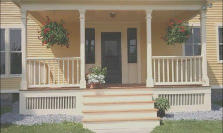 Front Porch Stairs Design Best Of 36 Pretty Farmhouse Front Porch Steps Design Ideas Homyfeed
