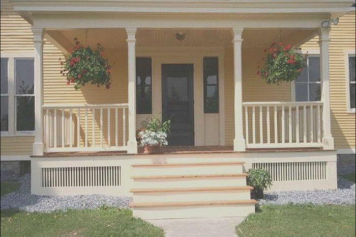 13 Simplistic Front Porch Stairs Design Images