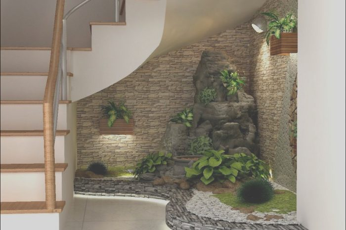 11 Awesome Garden Under Stairs Design Images