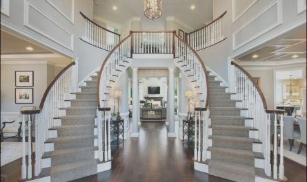 Houses with 2 Sets Of Stairs Unique toll Brothers Dramatic Two Story Foyer with Elegant Curved
