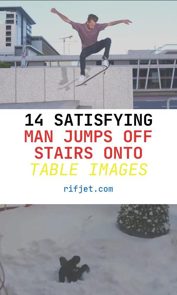 Man Jumps Off Stairs Onto Table Awesome Step by Step Guide to Ollying Down Stairs