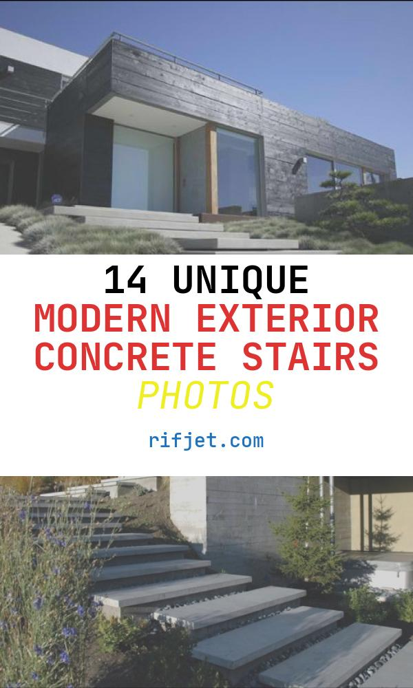 14 Unique Modern Exterior Concrete Stairs Photos