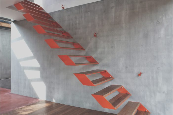 12 Beautiful Modern Steel Stairs Design Photography