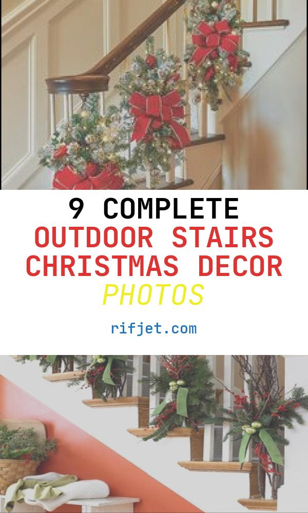 9 Complete Outdoor Stairs Christmas Decor Photos