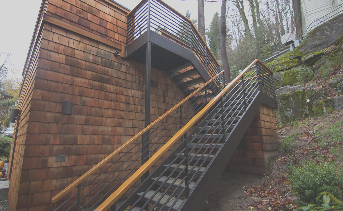 Outside Metal Stairs Garage Best Of High Performance Garage Addition by Portland Seattle Home