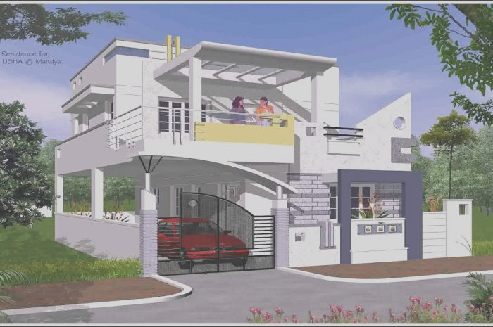 8 Casual Outside Stairs Design for Indian Houses Images