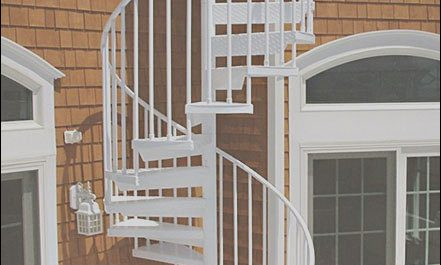 Roof Deck Stairs Design Beautiful Aluminum Powder Coated Spiral Stair From A Rooftop Deck