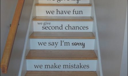 Stairs Decorating Quotes Awesome In This House Quote Staircase Wall Vinyl Decal Sticker Decals
