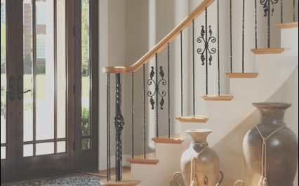 Stairs Entry Decor Inspirational Front Entry Foyer Showing Staircase with Iron Railings