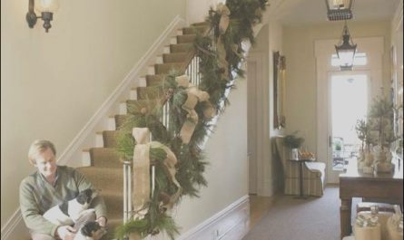 Stairs Garland Ideas Luxury Stairs Bannister Garland P Allen Smith Moss Mountain