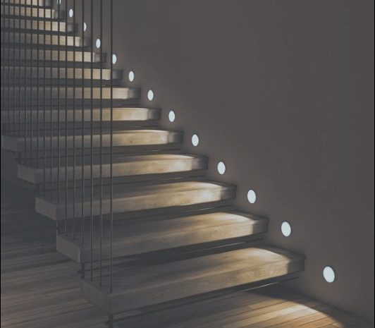 12 Creative Stairs Lamp Design Photos