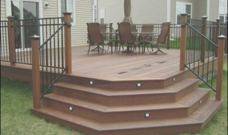 Stairs On Deck Design New Angled Deck Stairs Home Design Ideas Remodel