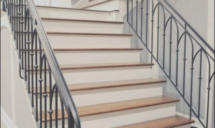 Stairs Railing Designs In Iron Beautiful Wrought Iron Stair Railing