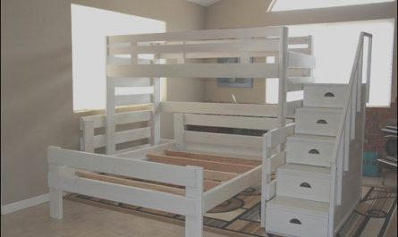 Stairs Sets Queen Inspirational Custom Made Tall Loft Twin Bunkbed W Queen Bed & Staircase