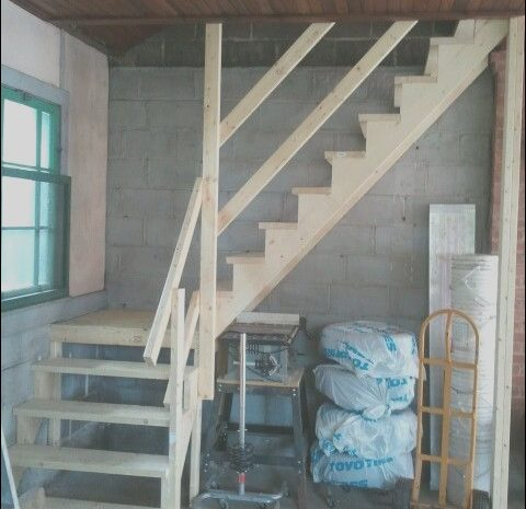 9 Pretty Stairs to Garage Storage Photos