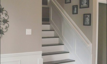 Thrifty Decor Chick Stairs Lovely Thrifty Decor Chick Revamping Wood Stairs Added Molding