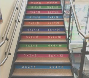 Times Table On Stairs Beautiful Times Tables Stair Graphics Blocks Design Services