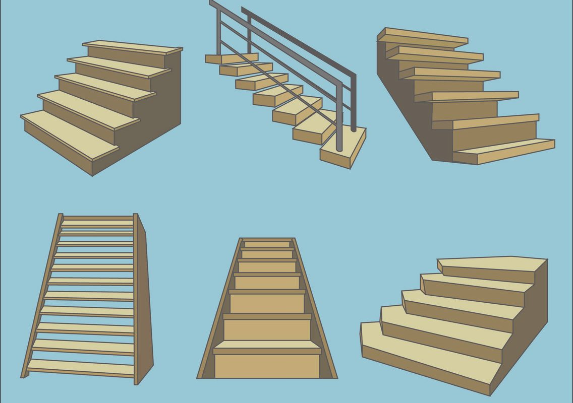 Vector Design Stairs Lovely Wooden Stairs Vector Vector Art & Graphics