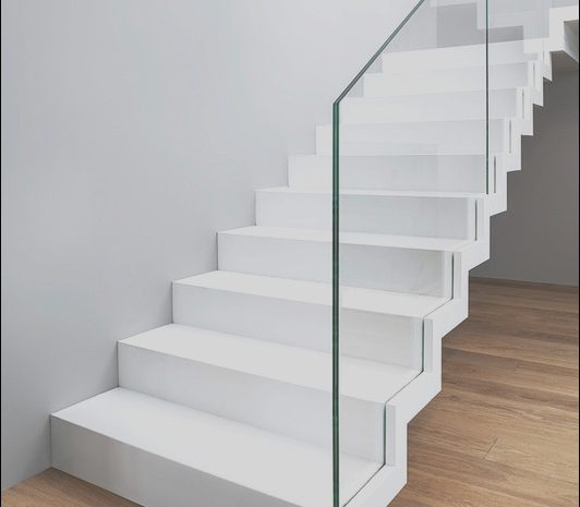 15 Prime White Contemporary Stairs Stock