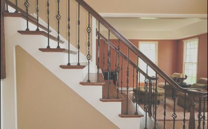 Wood Stairs Interior New Interior Staircase Traditional Staircase Chicago