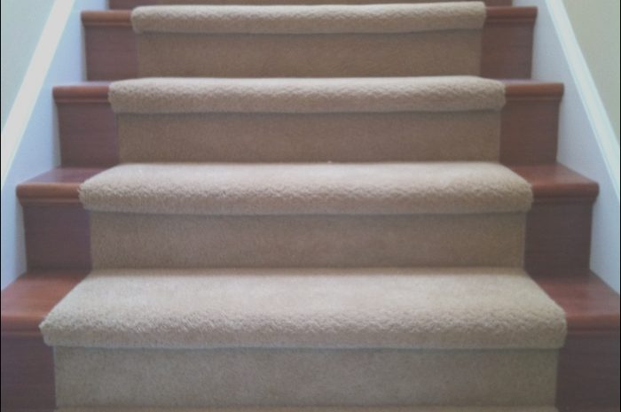 8 Cool Wooden Stairs and Carpet Image