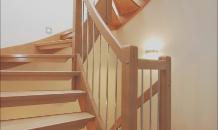 Wooden Stairs Inside Lovely Fancy and Modern Wooden Staircase
