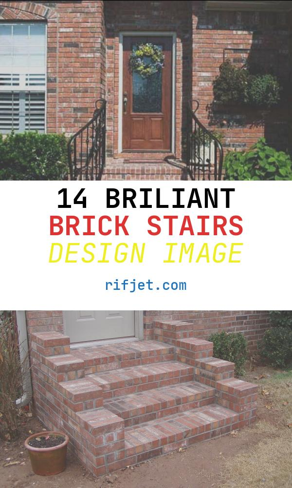 14 Briliant Brick Stairs Design Image