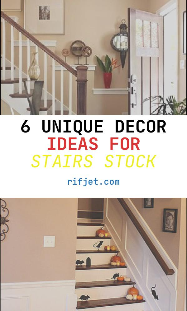 6 Unique Decor Ideas for Stairs Stock