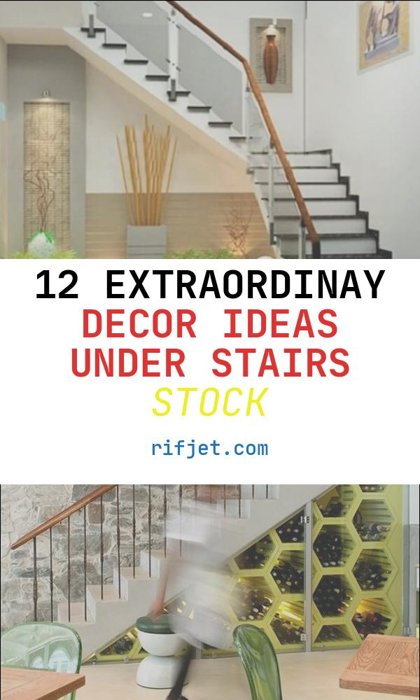 12 Extraordinay Decor Ideas Under Stairs Stock
