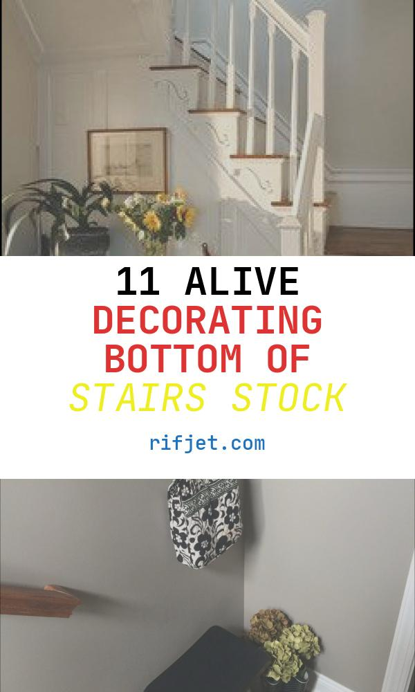 11 Alive Decorating Bottom Of Stairs Stock