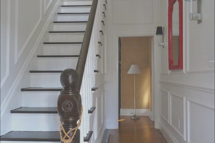 9 astonishing Decorating Narrow Hallway Stairs Image