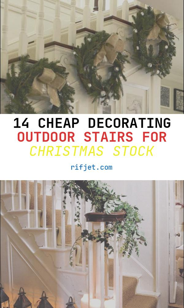 14 Cheap Decorating Outdoor Stairs for Christmas Stock
