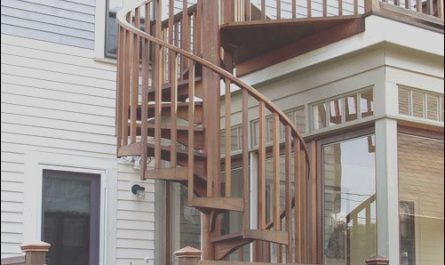 Exterior Stairs to Roof Fresh Outdoor Wood Spiral Staircase Mountain Home