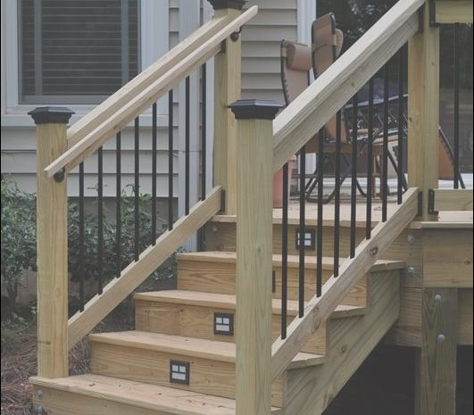 10 Better Exterior Wooden Stairs and Railings Photos