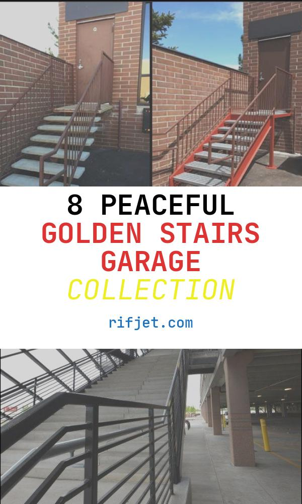 Golden Stairs Garage Unique Custom Steel Staircase Golden