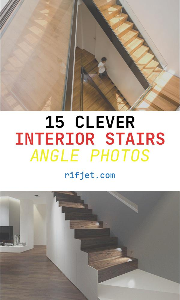 Interior Stairs Angle Luxury Modern White House with Integrated Angles and Corners