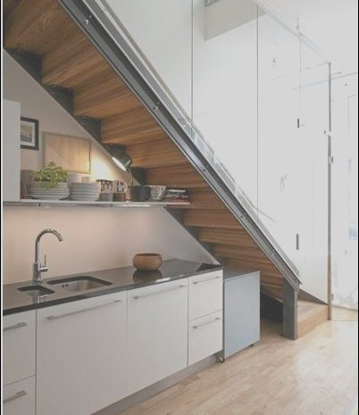 8 Beautiful Kitchen Under Stairs Design Image