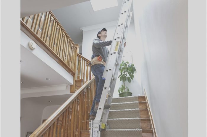 14 Wondeful Ladders for Decorating Stairs and Landing Photos