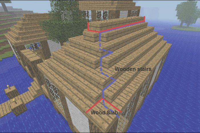 15 Complex Minecraft Stairs Roof Photos